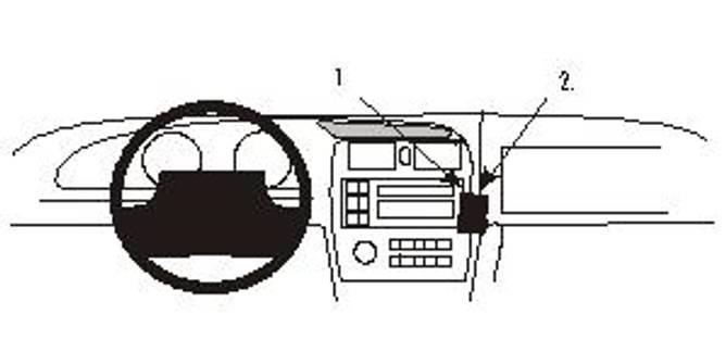 Bilde av Brodit ProClip Angled mount - Toyota Avalon