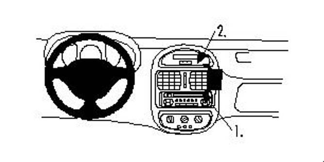 Bilde av Brodit ProClip Angled mount - Renault Clio I