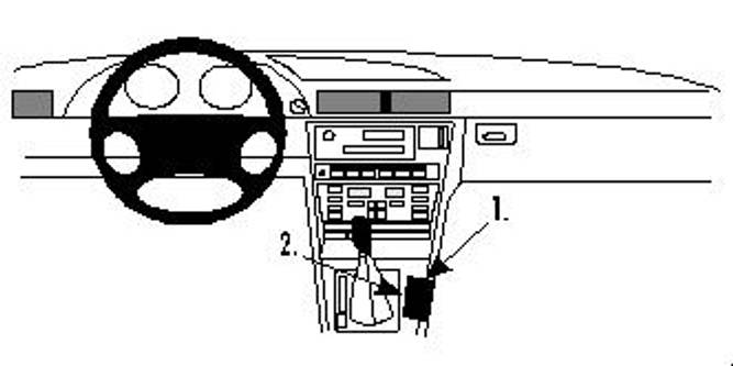 Bilde av Brodit ProClip Console Mount - BMW 7-series E38