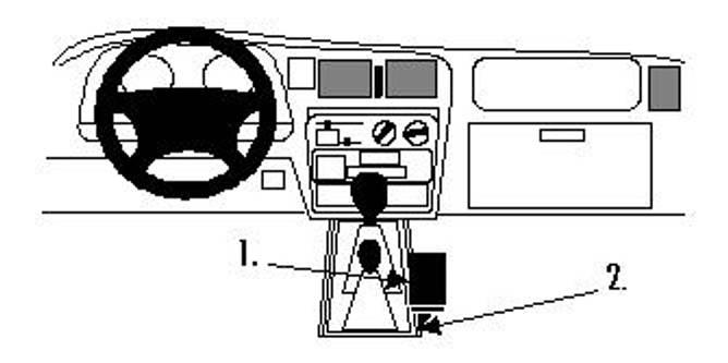 Bilde av Brodit ProClip Console mount - Toyota HiLux