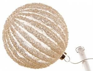 Bilde av Glasskule stripet m/sølvdekor LED