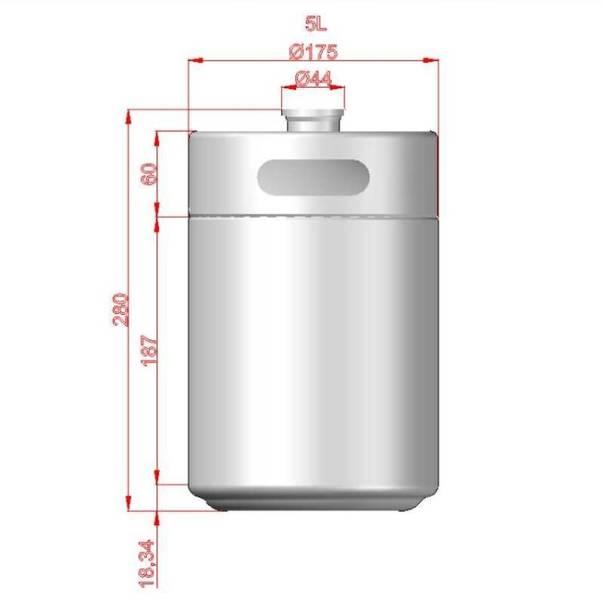 Minikeg 5 liter med trykksett - Kegland