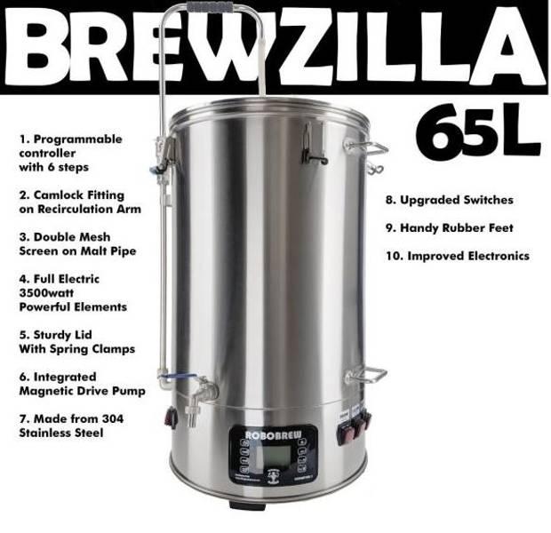 RoboBrew BrewZilla 65L, startpakke