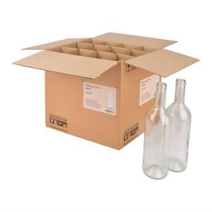 Bilde av Eske med 12stk 75cl vinflasker, klar