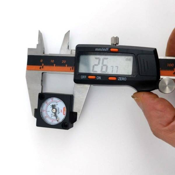 Mini gauge 0-30 psi (0-2 bar)