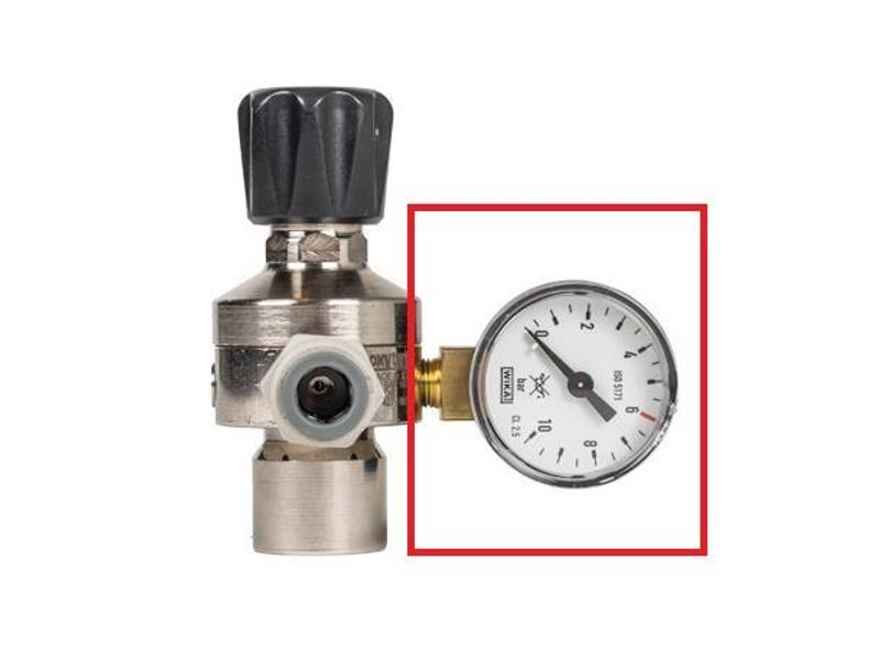 Manometer til Sodastream regulator