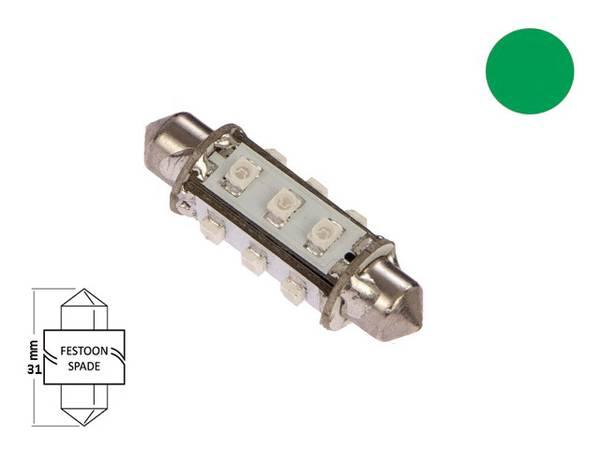 Bilde av LED pære festoon 37mm 10-35V 85lm, kaldhvit