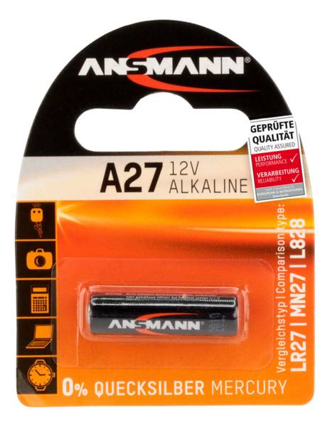 Bilde av Alkaline batteri A27, 1-pk