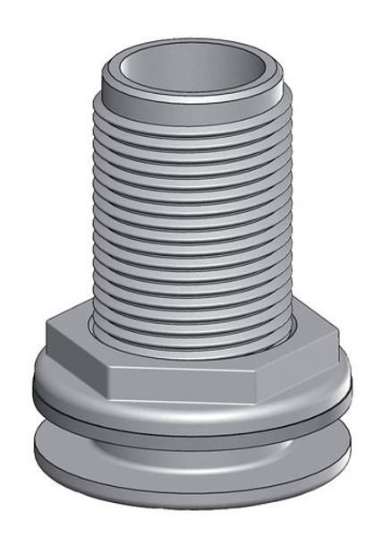 Bilde av TruDesign skroggjennomføring  hvit 1