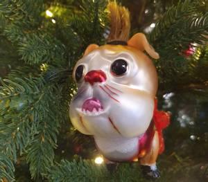 Bilde av Juletrepynt hund punker