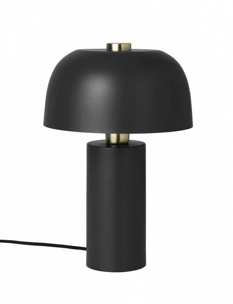 Bordlampe sort & gull
