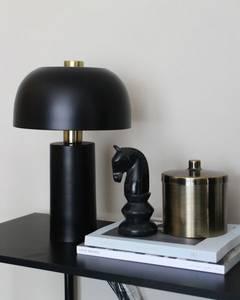 Bilde av Bordlampe sort & gull