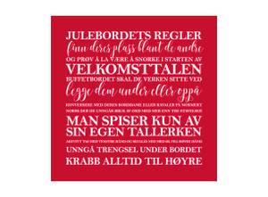 Bilde av Servietter julebordets regler