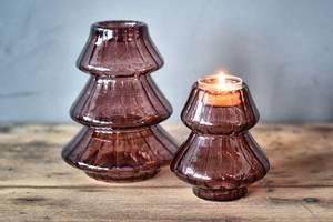 Bilde av Telysholder juletre purpur