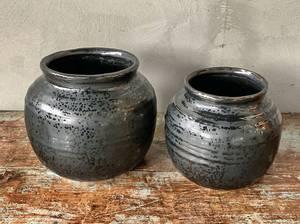 Bilde av Sort potteskjuler keramikk