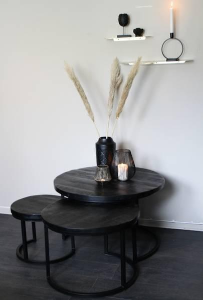 Runde bord s/3 sort