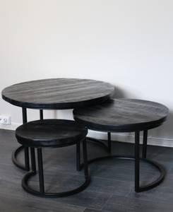 Bilde av Runde bord s/3 sort