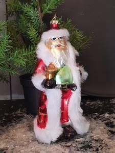 Bilde av Nisse i glass juletrepynt