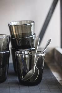 Bilde av Drikkeglass sotet glass