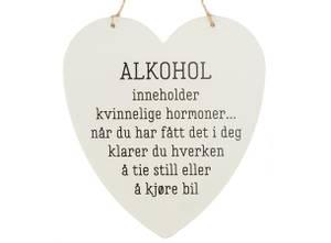 Bilde av METALLSKILT HJERTE ALKOHOL