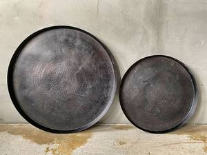 Bilde av Lysfat sort metall 41 cm