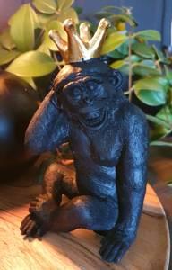 Bilde av Gorilla sort m/krone