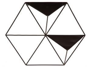 Bilde av Hylle 6-kantet sort