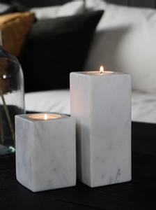Bilde av Telysestake marmor stor