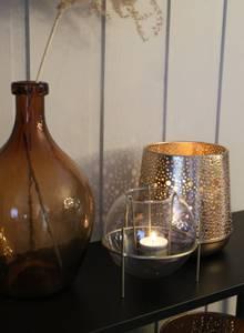 Bilde av Lysglass med stativ i gull