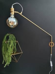 Bilde av Vegglampe gull