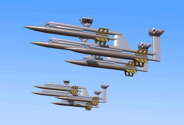 1/32 Scale Oerlikon Rockets (with launchers)