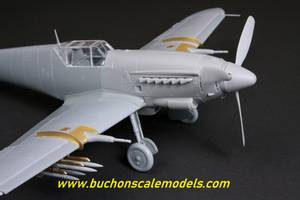 Image of Hispano HA-1112 Buchon/Tripala Wing Accessory/ Ej