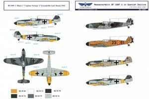 Image of 1/32 BF 109F Spanish Airforce Decals