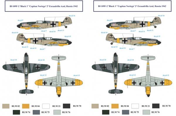 1/32 BF 109F Spanish Airforce Decals