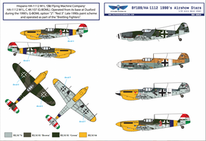 Image of 1/32 BF109/HA-1112 1990s Airshow Star Decals