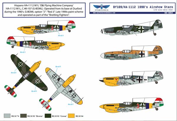 1/32 BF109/HA-1112 1990s Airshow Star - Dekaler