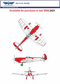 1/24 Supermarine Spitfire Mk IVXe Resin Conversion Kit