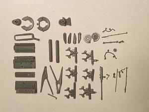 Bilde av DB605 engine med våpen og motorbukk