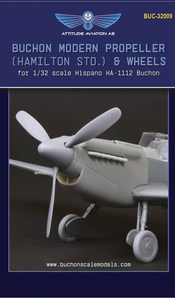 1/32 Buchon Modern Propeller (Hamilton std.) and Wheels