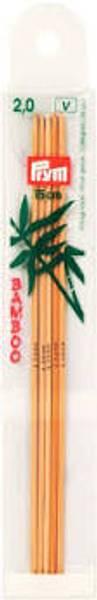 2.0 Bamboo Strømpepinner, 20cm
