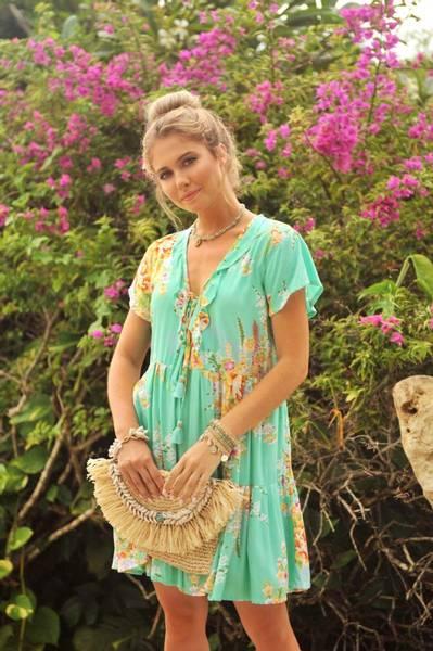 Bilde av Hot Lava Kjole Lily Island Rose