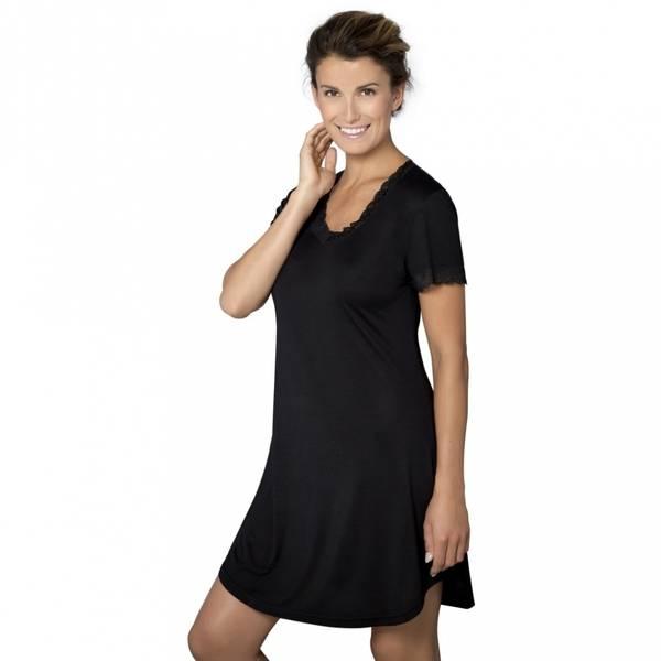 Bilde av Lady Avenue Nightgown W/Sleeve Black
