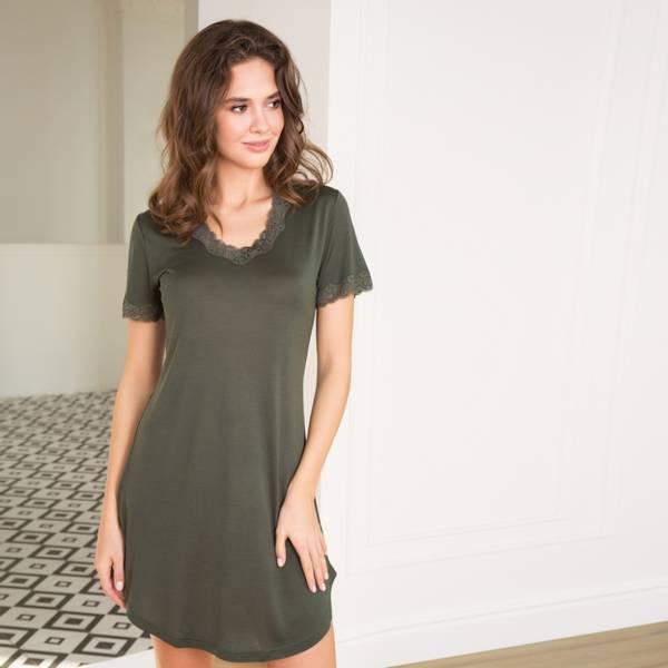 Bilde av Lady Avenue Nightgown W/Sleeve Grønn