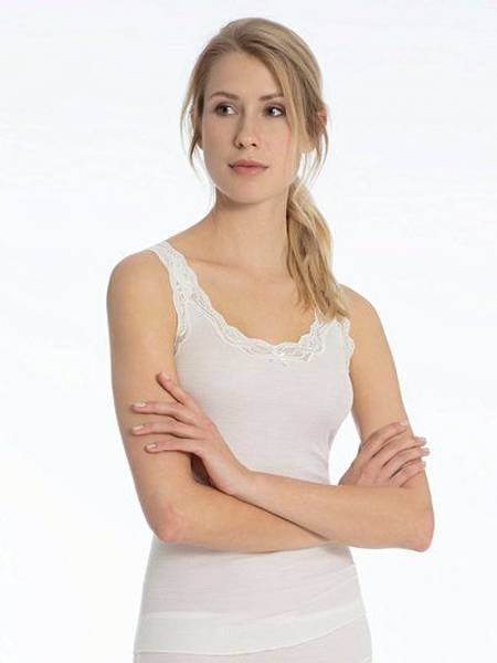 Bilde av Calida Richesse Tank Top M/Blonde Hvit