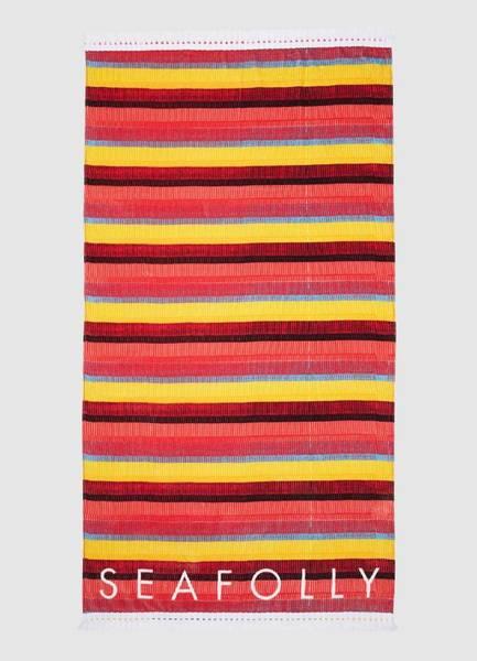 Bilde av Seafolly Baja Stripe Towel Saffron