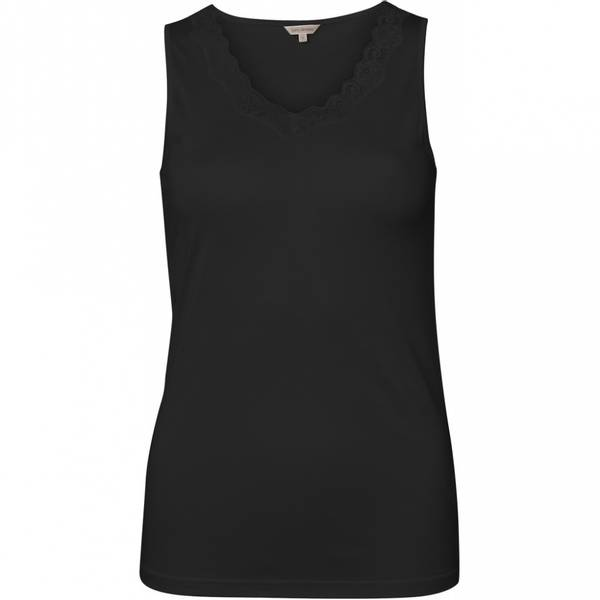 Bilde av Lady Avenue Top W/Lace Silk Jersey Svart