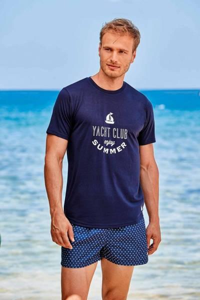Bilde av David T-Shirt Arkos Navy