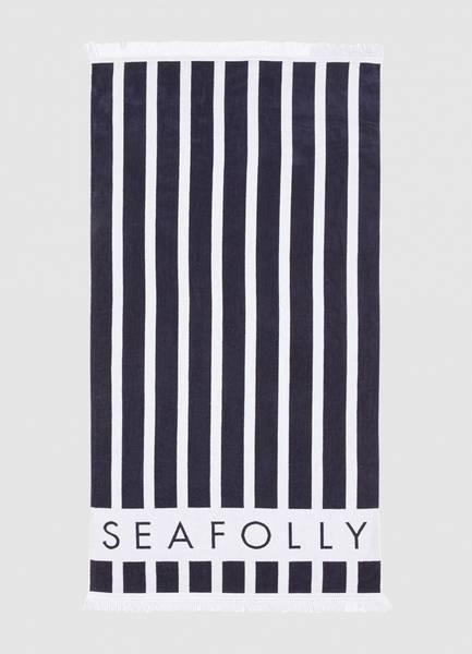 Bilde av Seafolly Sunlight Stripe Towel True Navy