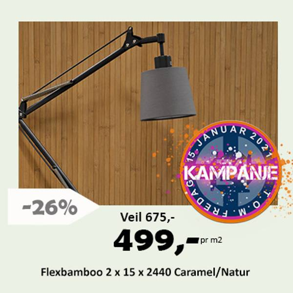 Flexbamboo Spiletapet bambus bambustapet