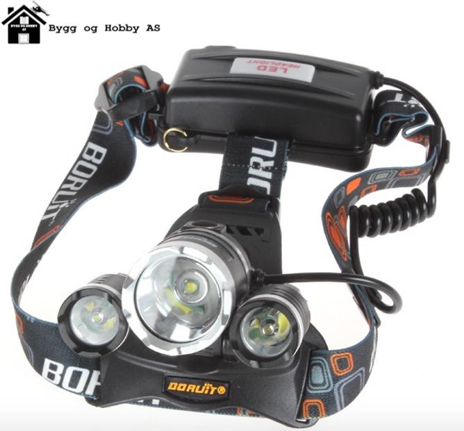 Bilde av Boruit 3 x CREE LED Hodelykt